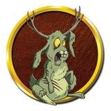 Créature d'antilope de lièvre de Jackalope de zombi Images libres de droits