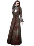 Créature de Halloween - nonne ensanglantée Image stock