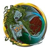 Créature de mer de sirène de zombi Photographie stock libre de droits