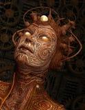 Créature extraterrestre avec l'implant Photographie stock