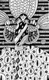 Créature extraterrestre - dessin fantastique surréaliste d'encre Illustration psychédélique tirée par la main Dessin-modèle de ve illustration de vecteur