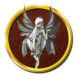 Créature féerique mythique de vampires de zombi Images libres de droits