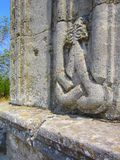 Créature mythique abstraite sur le mur de la tombe d'une belle femme aimée Photographie stock