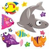 Créatures de mer Images stock