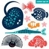 créatures de mer pour des enfants illustration stock