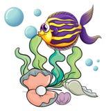 Créatures sous la mer illustration libre de droits