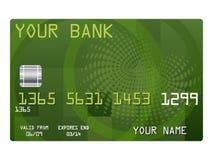 crédit de carte de côté votre illustration stock