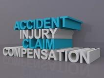 Crédito de seguro do acidente ilustração stock
