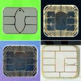Crédito o microprocesador de la tarjeta de débito foto de archivo libre de regalías
