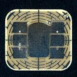 Crédito o microprocesador de la tarjeta de débito imágenes de archivo libres de regalías
