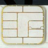 Crédito o microprocesador de la tarjeta de débito foto de archivo