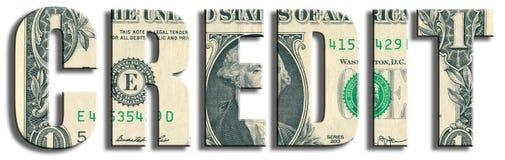 crédito Textura do dólar americano Imagens de Stock Royalty Free
