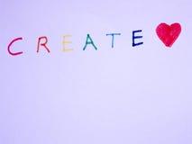 Créez le concept avec amour Image libre de droits