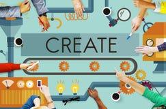 Créez le concept d'idées de développement d'imagination d'innovation Illustration Stock