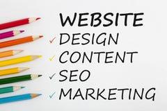 Créez le concept de site Web image libre de droits