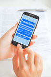 Créez le paiement par l'intermédiaire du smartphone ou du périphérique mobile images libres de droits