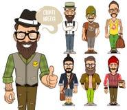 Créez les caractères de hippies Photo stock