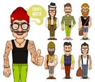 Créez les caractères de hippies Partie 2 Photos libres de droits