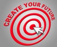 Créez votre avenir indique la construction et la prévision de prévisions illustration de vecteur