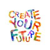 Créez votre avenir Vecteur illustration de vecteur