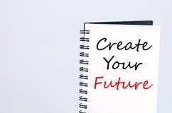 Créez votre futur concept photographie stock libre de droits