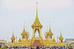 Crématorium royal pour son défunt Roi Bhumibol Adulyadej, Rama IX de majesté Photos stock