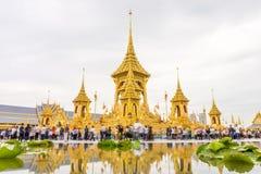 Crématorium royal pour son défunt Roi Bhumibol Adulyadej, Rama IX de majesté Photographie stock