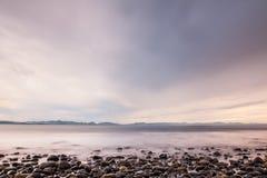 Crépuscule à l'île de Vancouver Images libres de droits