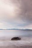 Crépuscule à l'île de Vancouver Image stock
