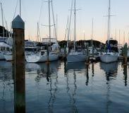 Crépuscule à la marina de Kerikeri, Nouvelle-Zélande, NZ Photographie stock
