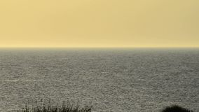 Crépuscule à la mer baltique Photographie stock