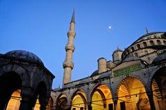 Crépuscule à la mosquée bleue Photo libre de droits