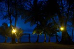 Crépuscule à la plage Images stock