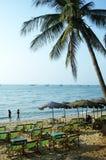 Crépuscule à la plage de Pattaya Photographie stock
