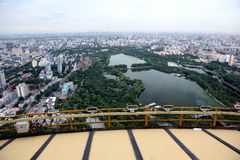 Crépuscule à Pékin, Chine Photos libres de droits