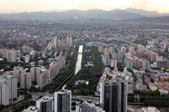 Crépuscule à Pékin, Chine Image stock