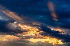 Crépuscule au Brésil Photos libres de droits