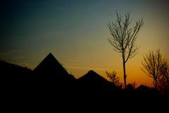 Crépuscule au coucher du soleil Photographie stock libre de droits