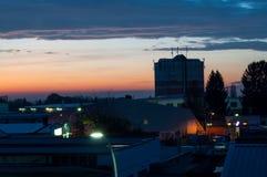 Crépuscule au-dessus de Gelnhausen Photo stock