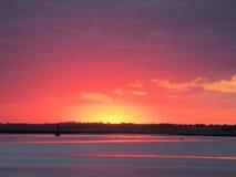 Crépuscule au-dessus de l'Estaury Photo libre de droits