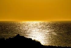 Crépuscule au-dessus de la mer baltique Images stock