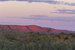 Crépuscule au-dessus des Rois Canyon images stock