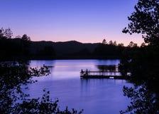 Crépuscule au lac Goldwater Photos libres de droits
