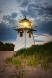 Crépuscule au phare de port de Covehead, PEI Photos libres de droits