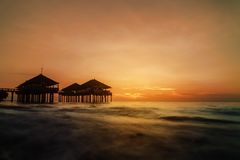 Crépuscule chez Singaraja Images stock
