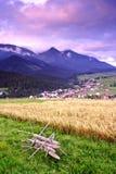 Crépuscule d'été dans haut Tatras (Vysoké Tatry) Photo libre de droits