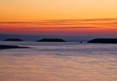 Crépuscule d'Erie de lac Minimalistic Photographie stock libre de droits