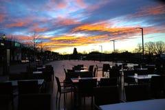 Crépuscule dans Bregenz Photo stock