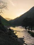 Crépuscule dans Dovedale Photographie stock