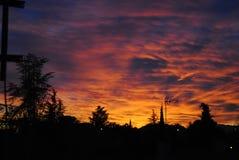 Crépuscule dans l'hémisphère nord Photographie stock libre de droits